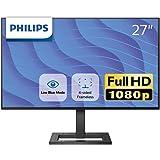 PHILIPS 液晶ディスプレイ・PCモニター 272E2F/11 (27インチ/FHD/IPS/5年保証/D-sub 15,HDMI,Display Port/4面フレームレス/Adaptive Sync/ちらつき防止/ブルーライト軽減)
