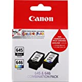 Canon PG645CL646CP Combo Pack (1 x PG645 & 1 x CL646)