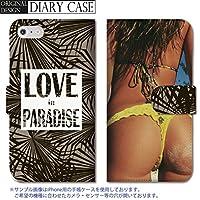 301-sanmaruichi- Galaxy S6 ケース Galaxy S6 カバー ギャラクシー S6 ケース 手帳型 おしゃれ セクシー 水着 ヒップ ヤシの木 ハワイ アロハ A 手帳ケース SUMSUNG