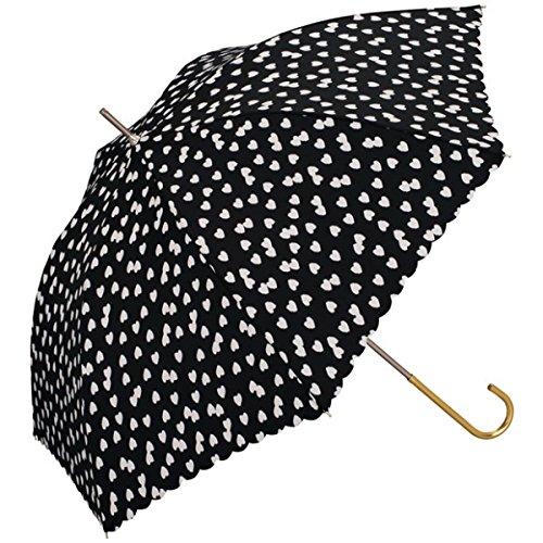 w.p.c(WPC) 【長傘】【軽くて丈夫で持ちやすい】フラッフィーハート (雨傘/レディース)【ブラック/58】