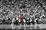 MICHAEL JORDAN CHICAGO BULLS LAST SHOT 1998 (Basketball) Sports Poster Print (60cm x 90cm)