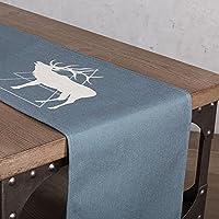 テーブルランナー ノルディックスタイルの署名コットンテーブルランナーブルーグリッドダイニングテーブル/ティーテーブル (色 : C, サイズ さいず : 30x160cm)