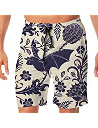 メンズ水着 ビーチショーツ ショートパンツ コウモリ スイムショーツ サーフトランクス 速乾 水陸両用 調節可能