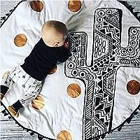 赤ちゃんのおもちゃカスタム綿の赤ちゃんのクロールマット子供のクロールパッドの装飾毛布のゲームの毛布 (サボテン)