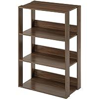 ぼん家具 フリーラック 収納ラック シェルフ 本棚 おしゃれ オープン 幅60cm ウォールナット