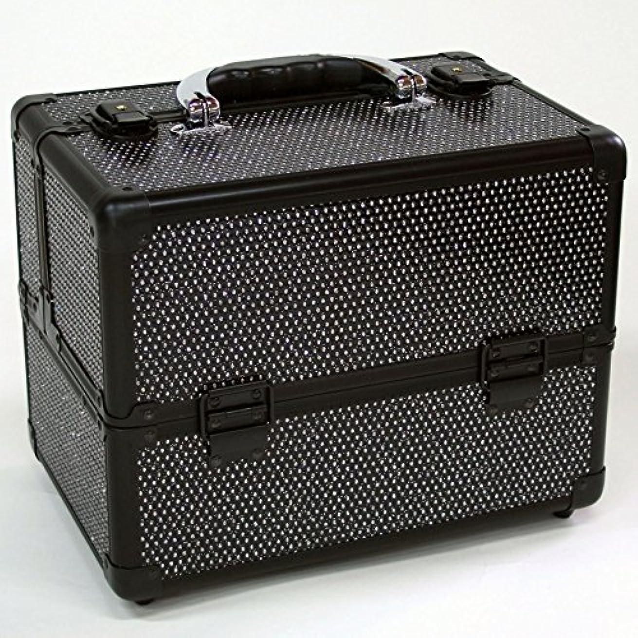 添付ヘリコプタープログラムメイクボックス|D2671K-2|軽量タイプ|コスメボックス 化粧箱 メイクアップボックス|Make box MAKE UP BOX (ブラック)