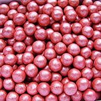 Natural 6mm Nuts Dairy Soy Gluten GMO Free shimmer Pearls (Red)