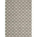 RUGGABLE Washable Indoor/Outdoor Stain Resistant Area Rug 2pc Set (Cover and Pad) Floral Tiles Rich Grey & White (152 x 213cm)