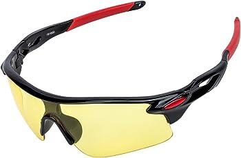 AUGYMERメンズスポーツサングラス UV400 レディーススポーツサングラス 超軽量 紫外線をカット自転車サングラス ドライブサングラス オートバイゴルフ 野球 テニス ランニング マラソン ジョギング スキー スノーボード 釣り登山 トレッキングなどスポーツにも最適 おしゃれ眼鏡 専用ケース ふき布つき