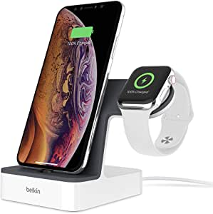 ベルキン iPhone + Apple Watch用 充電器 Series 5 / 4 / 3 / 2 / 1 対応 MFi認証 ホワイト F8J237QEWHT-A