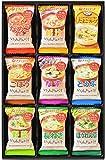 アマノフーズ バラエティギフト M‐300P 全27食(いつものおみそ汁:なめこ3食、豚汁3食、ごぼう3食、なす3食、とうふ3食、野菜3食、長ねぎ3食、ほうれん草3食/たまごスープ3食)