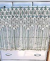 マクラメ編み カーテン タペストリー 横80 縦63 オシャレインテリア 北欧 編み物