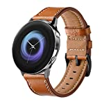 ★Auppova★Galaxy Watch Active Bands , Leather Replacement Wristband Wrist Strap Women Men Bracelet Compatible for Samsung...