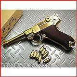 Luger P08 8インチ プラグリップ付 ダミーカート仕様 4インチ(金属モデルガン・完成品)