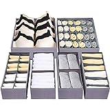 Dresser Drawer Underwear Organizer - Large Drawer Organizer Closet Divider Washable Clothes Bra Sock Tie Foldable Storage Box