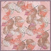 OWNFSKNL 女の子のためのプリントシルクスカーフショールスカーフスモールスクエアスカーフヒジャーブスカーフレディース (Color : Grey)