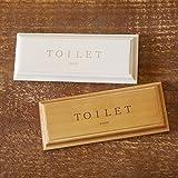 BREA 日本製 ドアプレート TOILET トイレ サインプレート (ホワイト) (¥ 1,080)