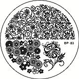 Amazon.co.jpノーブランド 1枚 花 葉 花火 ネイルアートネイル用品ネイルアートキットスタンピングプレートスタンピングテンプレートイメージプレート [並行輸入品]