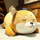 ERDAO Shiba Inu Plush Pillow,Soft Corgi Stuffed Animals Toy Cute Sleeping Puppy Doll Gifts for Kids (Smiling Eyes, 19.6 inch)