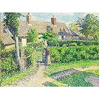 Pissarro Peasants Houses Eragny Art Print Canvas Premium Wall Decor Poster Mural 家壁デコポスター