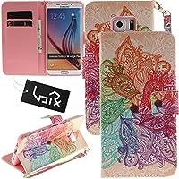 Urvoix Samsung Galaxy s6Edge Plus ,カードホルダースタンドPUレザー財布型ケース–Painted Lanyardフリップカバーfor Galaxy s6edge Plus ( 5.7)
