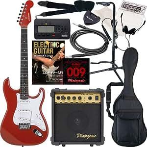 SELDER エレキギター ストラトキャスタータイプ ST-16 初心者入門13点セット /メタリックレッド(9707001021)