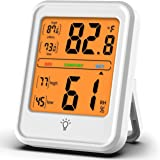 Large LCD Display, H HOME-MART Digital Hygrometer Indoor Thermometer, Room Thermometer and Humidity Gauge with Backlit Accura