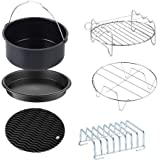 GoWISE USA Standard 6-Piece Air Fryer Accessory Kit for 2.75-4 Quarts, Small, Universal