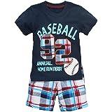 Coralup Toddler Boys Girls Unisex Cotton Shorts 2PCS Clothing Sets