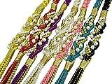 振袖用 パールビーズ飾り付き 金糸使用 手組 帯締め 単品 OW