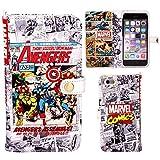 iPhone6s iPhone6 ケース 手帳型 カバー MARVEL マーベル キャラクター コミック柄 / アベンジャーズ