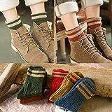 K-TOP 靴下 レディース ウール混紡ソックス 冷えとり 秋冬お洒落 かわいい ファッション ソックス5足組 (A2)