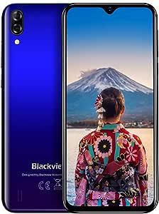 Blackview A60 Pro SIMフリースマートフォン Android 9.0 6.088インチ アスペクト比19.2:9 旭硝子水滴型ノッチスクリーン 8MP/5MPカメラ デ 4080mAh大容量バッテリ 3GB RAM + 16GB ROM(256GBまでサポートする) 4Gスマホ デュアル SIM(Nano) 顔認証 指紋認証 au不可 技適認証済み 1年間保証付き