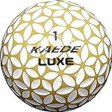 KAEDE LUXE(カエデ ラックス)ゴルフボール ゴールド‐ホワイト1スリーブ(3球入り)ソフト スピン 3ピース