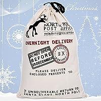 1個 クリスマス サンタ ギフトバッグ キャンディ 収納袋 ビスケット クッキー お菓子 パッケージバッグ プレゼント クリスマス小物 大きなサンタさんの袋 (White)