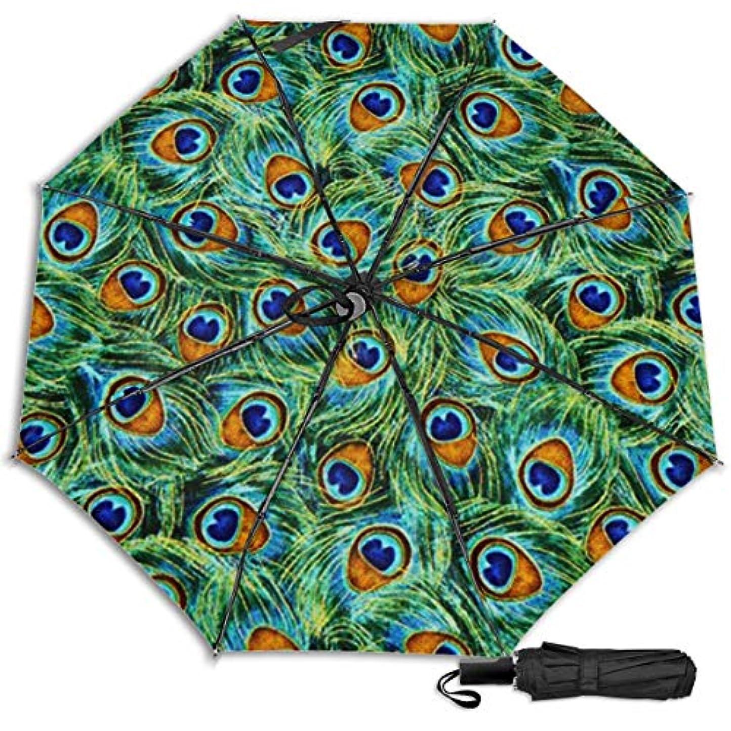 ページェント着実にきれいに緑の孔雀の羽日傘 折りたたみ日傘 折り畳み日傘 超軽量 遮光率100% UVカット率99.9% UPF50+ 紫外線対策 遮熱効果 晴雨兼用 携帯便利 耐風撥水 手動 男女兼用
