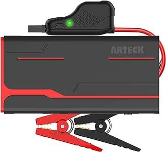 Arteck ジャンプスターター 12V車用エンジンスターター 18000mAh ポータブル充電器最大900A LED緊急ライト搭載 スマホ急速充電器 24ヶ月保証付【日本語取扱説明書付き】