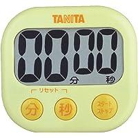 タニタ キッチン タイマー マグネット付き 大画面 100分 イエロー TD-384 YL でか見えタイマー