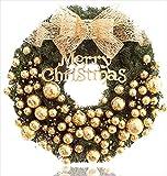 クリスマスリース オーナメント おしゃれ 壁飾り ゴールド 40㎝
