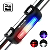 Bike Lights, ThorFire USB Rechargeable Bicycle Tail Light 7 Modes High Intensity Rear LED Accessories Fits On Any Road Bikes