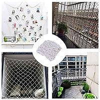 安全防護網 白いロープの網の保護網の子供の安全保護の網、子供猫の階段のための反落下網の装飾の網バルコニーの保護運動場の塀のガードレールの装飾の写真の壁 ベランダ防護網 (Color : 5cm Mesh, Size : 2*4M)