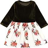 Infant Toddler Baby Girls Clothes Long Sleeve Floral Splice Tutu Skirt Princess Dress