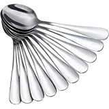 Anpro 10 PCS Tea, Coffee Spoons, Stainless Steel Spoons for Tea, Coffee, Dessert, Cake (13.6)