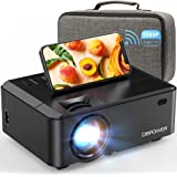 WiFi Mini Projector, DBPOWER 7000L HD Video Projector with Carrying Case&Zoom, 1080P and iOS/Android Sync Screen Supported, P