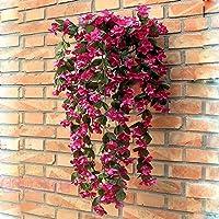 シンプルライフハンティングガーランド人工偽バイオレットハンギングホームウェディングインテリアブドウの花