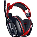 ASTRO Gaming A40 TR-X Edition Wired Gaming Headset for PC, Xbox and Playstation - Red/Blue