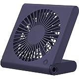 ドウシシャ 卓上扇風機 スリムコンパクトファン 3電源(AC USB 乾電池) 風量3段階 静音 ピエリア ネイビー FSV-106U NV