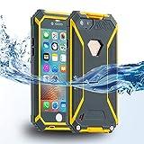 ISELECTOR 防水ケース iPhone6Sケース 防水 防塵 耐衝撃 保護カバー 防水最高等級IP68取得 指紋認証対応 4.7インチ グレー