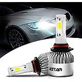 9005 HB3 LED Headlight Bulbs High Beam 6500K Jestar 38W 8000LM Super Bright Cree Chips 9005 LED Fog DRL Light All-in-One Conv