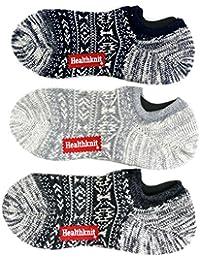 [ヘルスニット] 靴下 3足 セット 3足組 スニーカー ソックス ショート丈 メンズ